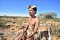 Arri Raats, Kalahari Khomani San Bushman, Boesmansrus camp, Northern Cape, South Africa (20540754065).jpg