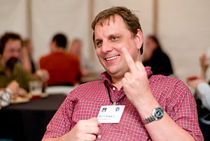 English: TechCrunch founder Michael Arrington
