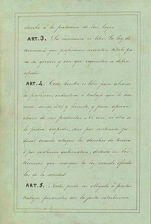 Articulos 3%2C 4 y 5 Constitucion de 1857