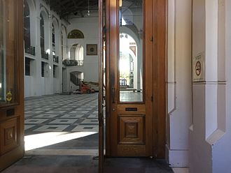 Arts and Industries Building - A view through a door of the building in 2015