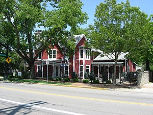 Ohio State Route 745 - Artz House on State Route 745, in downtown Dublin, Ohio