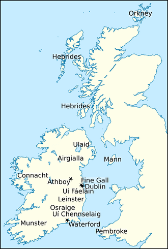 Ascall mac Ragnaill - Locations relating to Ascall's life and times.