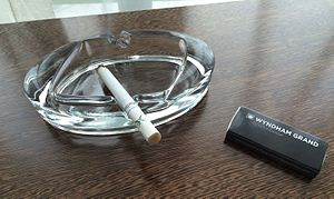 Ashtray - A glass ashtray