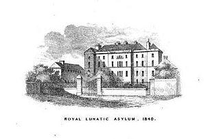 Richard Poole (physician) - Royal Lunatic Asylum, Montrose, in 1840.