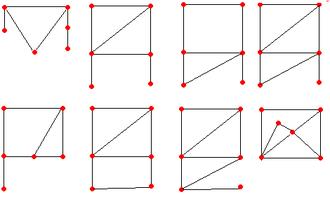 Asymmetric graph - The eight 6-vertex asymmetric graphs