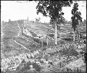 Atlanta in the American Civil War - Confederate palisades, on north side of Atlanta, Georgia, 1864