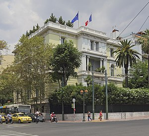 Vasilissis Sofias Avenue - The French embassy
