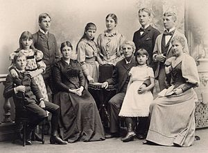 Richard M. Atwater - Richard M. Atwater and family in 1892.
