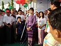 Aung San Suu Kyi opening speech at BarCamp Yangon 2012.jpg