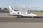 AusJet Aviation Group, formerly Australasian Jet, (VH-FUM) Cessna Citation 501 1-SP taxiing at Wagga Wagga Airport 1.jpg