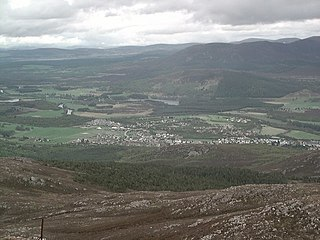 Aviemore town and tourist resort, situated within the Cairngorms National Park in the Highlands of Scotland
