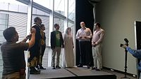 Avner and Darya's wiki Wedding at Wikimania by ovedc 07.jpg