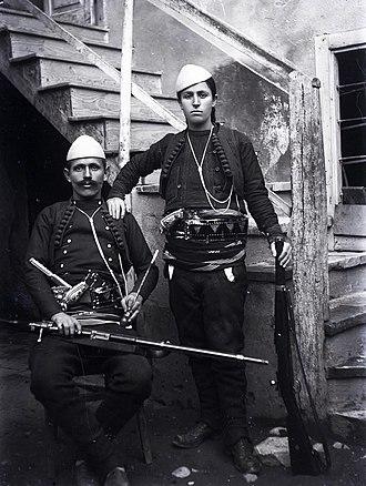 Albanian nationalism - Azem Galica and Shota Galica, leaders of the Kaçak movement (1920)