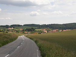 Skyline of Březina