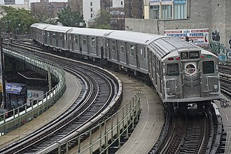 R11/R34 (New York City Subway car) - R11/R34 car 8013 trailing on the Train of Many Metals in 2015