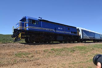 Transport in Botswana - BR Express Train from Gaborone to Francistown