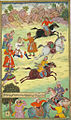 Babur fallen from his horse during a race.jpg
