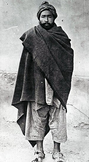 Reforms of Amānullāh Khān and civil war - Habibullah Kalakani, the Tajik bandit, popularly known in Afghanistan as Bacha-i Saqqao, shown as a prisoner before being executed in November 1929.