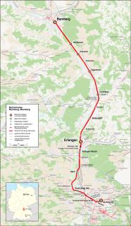 Nuremberg–Bamberg railway railway line in Bavaria, Germany