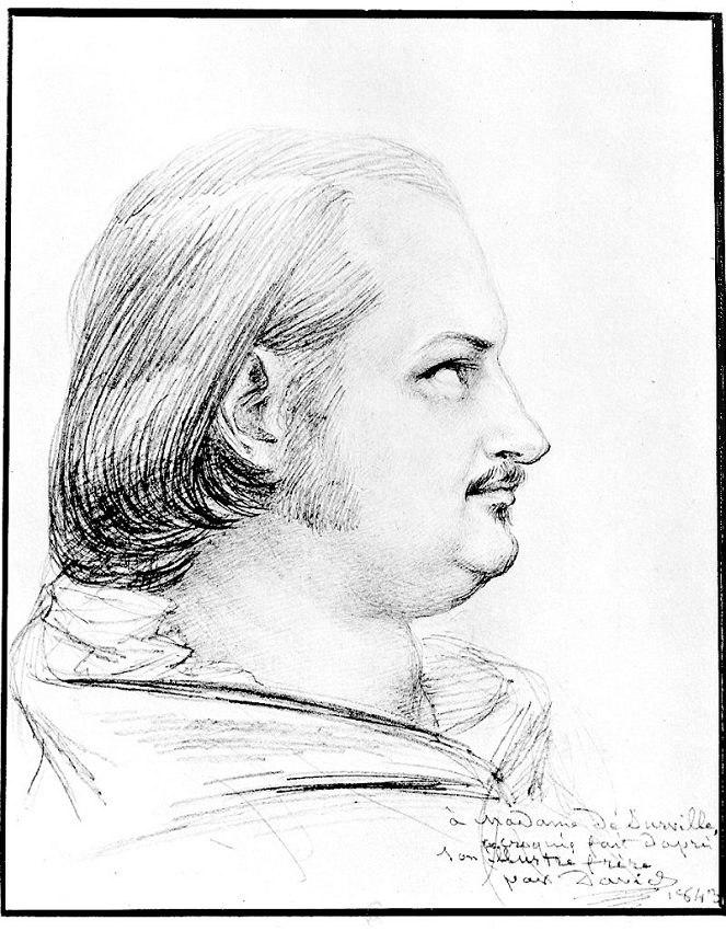 Balzac by P J David d Angers 1843