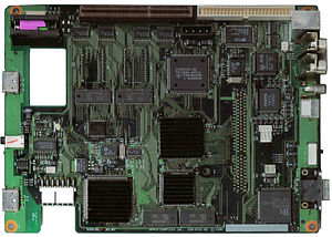 Apple Pippin - Apple Pippin logic board used by the Bandai systems. 6 MB is on the logic board by way of six 1 MB chips – four on the top, and two on the bottom.