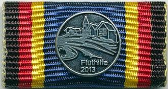 German Flood Service Medal (2013) - Image: Bandschnalle Fluthilfe 2013