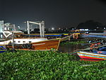Bangkok 08 - 12 - Boats moored for the night (3166813806).jpg