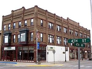 National Register of Historic Places listings in Ramsey County, North Dakota - Image: Bangs Wineman Block Devils Lake, North Dakota