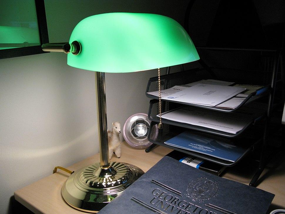 Bankers lamp by Rob Pongsajapan