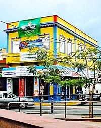 """View across """"Plaza del Mercado de Santurce"""" in one of Santurces Sub-barrios """"Campo Alegre""""."""