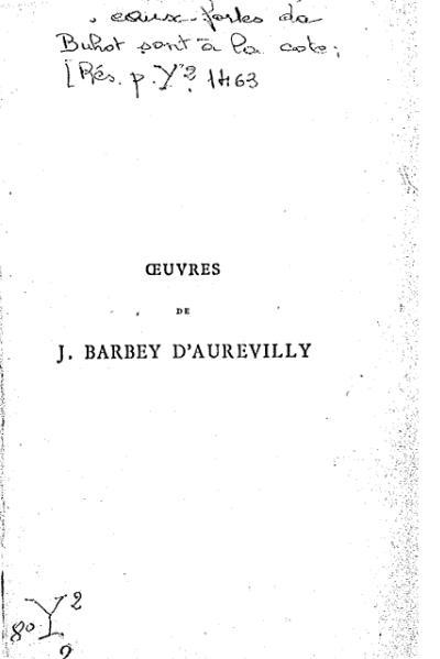 File:Barbey d'Aurevilly - Une vieille maîtresse, tome 1 (éd. 1879).djvu