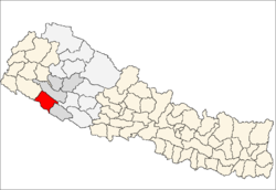 map of Bardiya, Nepal