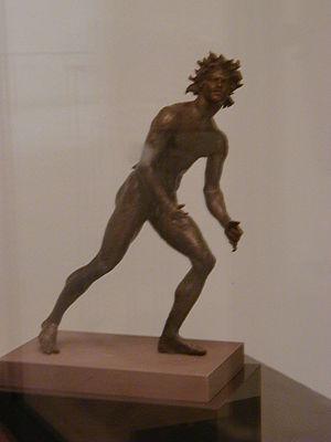 Mahdia shipwreck - Bronze satyr (height 0.35m) from the Mahdia shipwreck (Musée National du Bardo, Tunis)