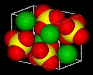 Barium sulfate - Image: Barite unit cell 3D vd W