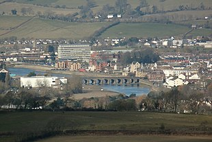 "Barnstaple and the <a href=""http://search.lycos.com/web/?_z=0&q=%22River%20Taw%22"">River Taw</a> viewed from the east"