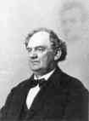 William H. Mumler - P.T. Barnum hired Abraham Bogardus to fabricate this photo of Barnum and the 'ghost' of Abraham Lincoln. This picture was then tendered in evidence at Mumler's trial for fraud to show how easy it was to forge spirit photographs.