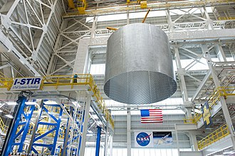 Michoud Assembly Facility - Image: Barrel Section of the Space Launch System Core Stage