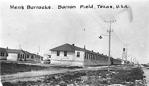 Barron Field - Men's Barracks, 1918.