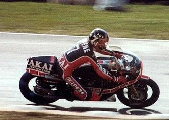 Barry Sheene - Sheene on the 1980 Akai Yamaha