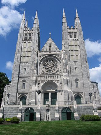 Basilica of Saints Peter and Paul (Lewiston, Maine) - The Basilica of Ss. Peter and Paul, as seen from the front.