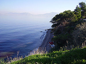 Salamis Island - Batsi beach