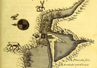 Fort Saint Louis (Newfoundland) - Fort Saint Louis (centre) - Battle of Placentia (1692)