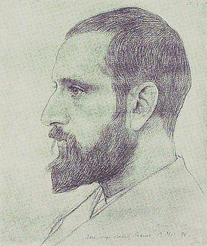 Marius Bauer - Marius Bauer; portrait by   Jan Veth (1894)