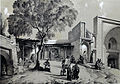 Bazaar and mosque entrance , Qazvin by Eugène Flandin.jpg