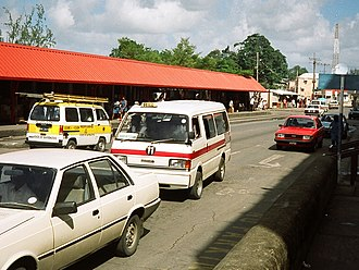 Transport in Barbados - Typical ZR-van with markings indicating that it serves the number 11 route.