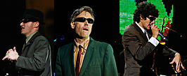 Links naar rechts: Ad-Rock, MCA en Mike D