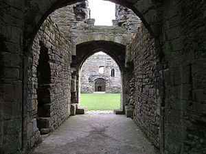 Beaumaris Castle - The entrance way through the southern gatehouse
