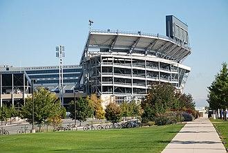 2013 Penn State Nittany Lions football team - Image: Beaver Stadium side view