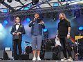 Behrang Miri - Rickard Söderberg - Claes-Johan Larsson - Eurovision Village 2016 - 2.JPG