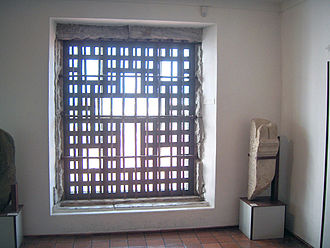 Beja, Portugal - Replica of the window where the famous nun Mariana Alcoforado spoke with the Marquis of Chamilly.